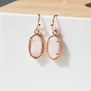 Kendra Scott Lee Gold Drop earrings in Drusy New